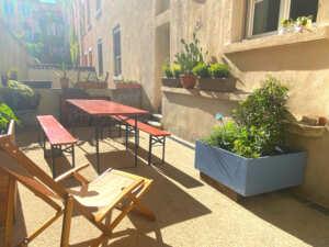 terrasse salle de reunion lyon le papillon bleu